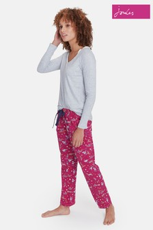 Joules Pink Snooze Cotton Pyjama Bottom