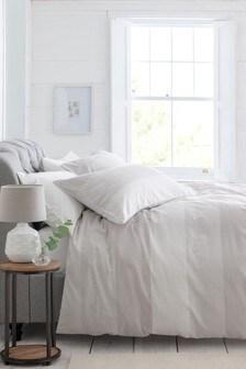 Textured Stripe Duvet Cover and Pillowcase Set