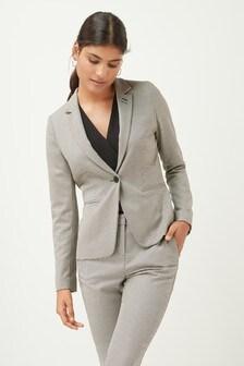 Houndstooth Slim Suit Jacket