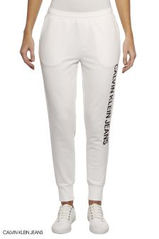 Calvin Klein Jeans White Logo Sweatpants