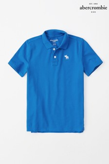 Abercrombie & Fitch Blue Short Sleeved Poloshirt