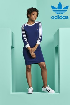 adidas Originals Blue 3 Stripe Dress