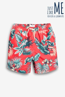 Matching Family Boys Floral Print Swim Shorts (3mths-16yrs)