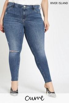 River Island Curve Blue Skinny Jean