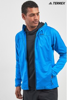 adidas Blue Terrex Sky Climb Hooded Jacket