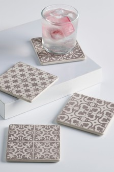 Set of 4 Tile Ceramic Coasters