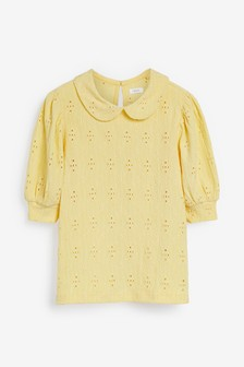 Broderie Collar Top (3-16yrs)