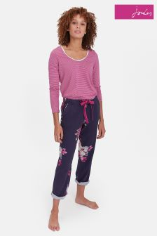 Joules Navy Bloom Snooze Cotton Pyjama Bottom