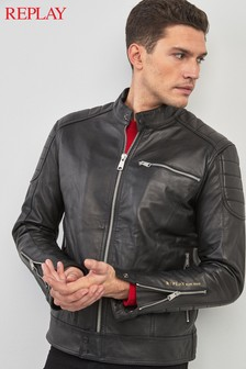 Replay® Black Leather Jacket