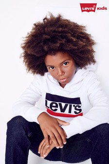Levi's® Kids White Sports Logo Hoody