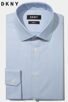 ef2a8fd18e3 DKNY Slim Fit Sky Single Cuff Dobby Shirt