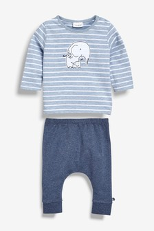 Stripe Elephant T-Shirt And Legging Set (0mths-2yrs)