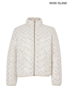 River Island Cream Lightweight Padded Coat