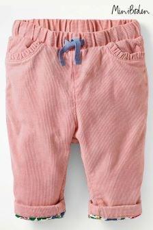 Boden Pink Appliqué Pocket Cord Trouser