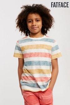FatFace - T-shirt naturale a righe