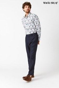 White Stuff Blue Northcote Linen Trouser