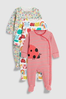 Ladybird Character Sleepsuits Three Pack (0mths-2yrs)