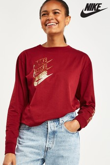 Nike Red Shine Long Sleeved T-Shirt