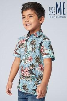 Рубашка для мальчиков из коллекции для всей семьи с короткими рукавами и гавайским принтом (3-16 лет)