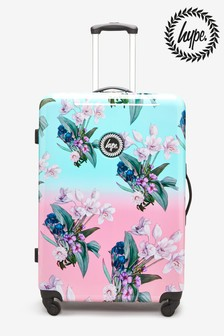 Hype. Large Floral Print Suitcase