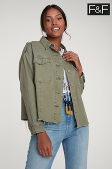 F&F Khaki Shacket