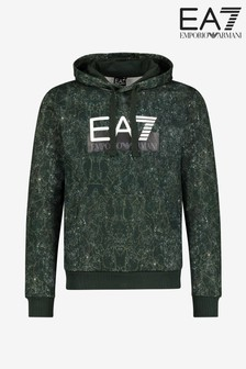EA7 Green Pattern Hoody