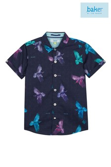 Baker by Ted Baker Younger Boys Bird Printed Shirt
