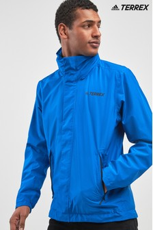 adidas Blue Terrex AX Hooded Jacket