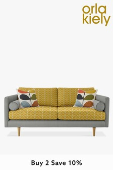 Orla Kiely Mimosa Medium Sofa with Oak Feet