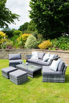 St Tropez Rattan Lounge Set - Grey by Charles Bentley