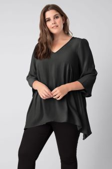 Live Unlimited Black Flare Sleeve Top
