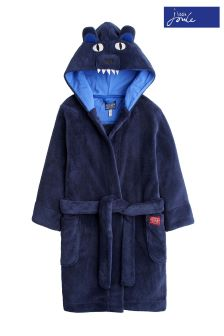 Joules Navy Bear Character Dressing Gown