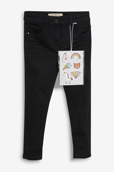 Spray-On Fit Jeans With Stickers (3-16yrs)