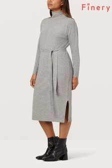 Finery London Grey Oak Jumper Dress