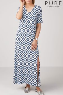 Pure Collection Blue Jersey Maxi Dress