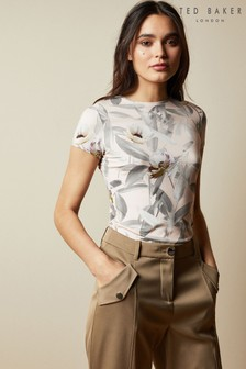 Ted Baker Pink Syennai Everglade Fitted T-Shirt