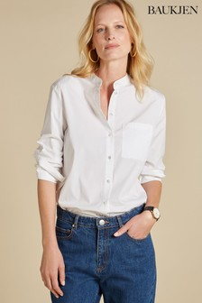 Baukjen White Drue Cotton Blend Shirt