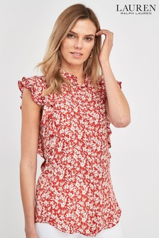 Lauren Ralph Lauren® Red Floral Tylen Blouse