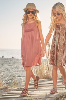Embroidered Tassel Dress (3-16yrs)