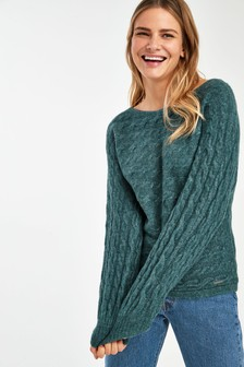 Abercrombie And Fitch Crop Knit Jumper
