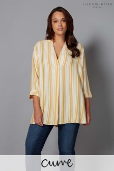 Live Unlimited Stripe Chambray Shirt