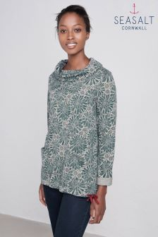 Seasalt Aeonium Garden Pebble Low Seas Sweatshirt