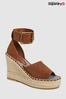 Superdry Tan Wedge Espadrille