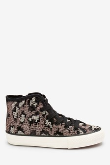 Sequin High Top Trainers (Older)