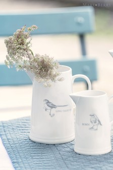 Mary Berry Garden Long Tailed Tit Medium Jug