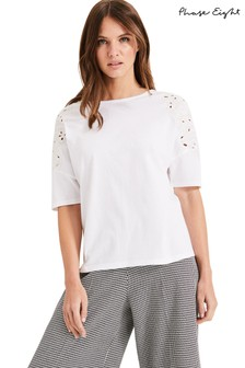 Phase Eight White Kaley Cutwork T-Shirt