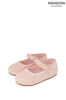 Chaussures de marche Monsoon Cecilia rose jacquard
