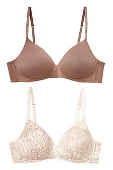 Daisy Lightly Padded Non Wire Full Cup Bras Two Pack