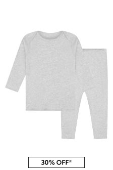 Bonpoint Baby Boys Grey Cotton Outfit