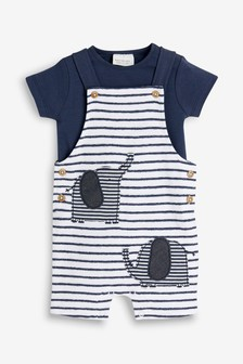 89623eccdd1 Elephant Dungarees And Bodysuit Set (0mths-2yrs)